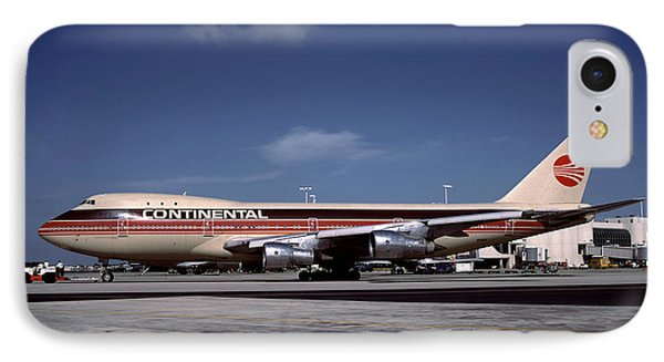 N17011, Continental Airlines, Boeing 747-143 IPhone Case