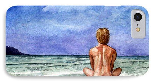 Naked Male Sleepy Ocean IPhone Case