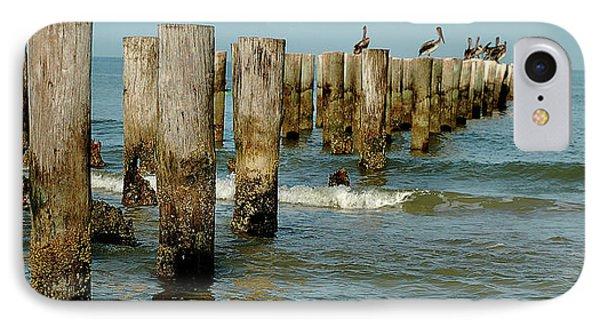 Naples Pier And Pelicans IPhone Case