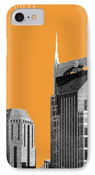 Nashville Skyline At And T Batman Building - Orange IPhone Case