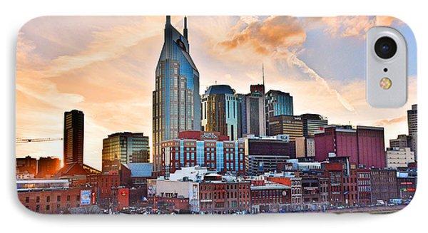Nashville Skyline At Sunset IPhone Case