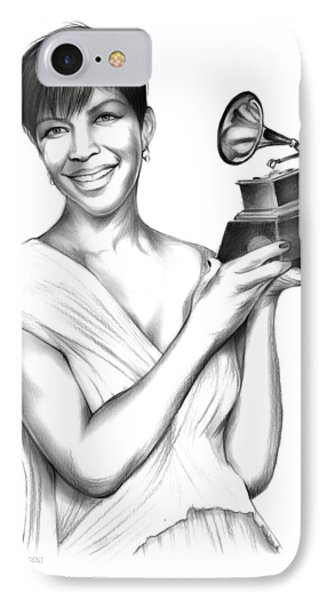 Rhythm And Blues iPhone 8 Case - Natalie Cole by Greg Joens