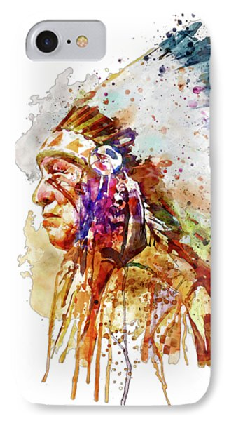 Native American Chief Side Face IPhone Case