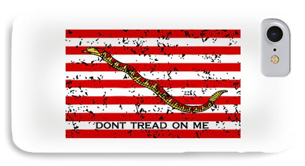 Navy Jack Flag - Don't Tread On Me IPhone Case