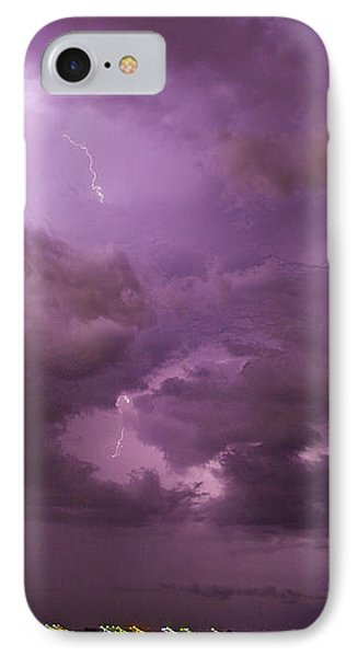 Nebraskasc iPhone 8 Case - Nebraska Night Thunderstorm Beast 001 by NebraskaSC
