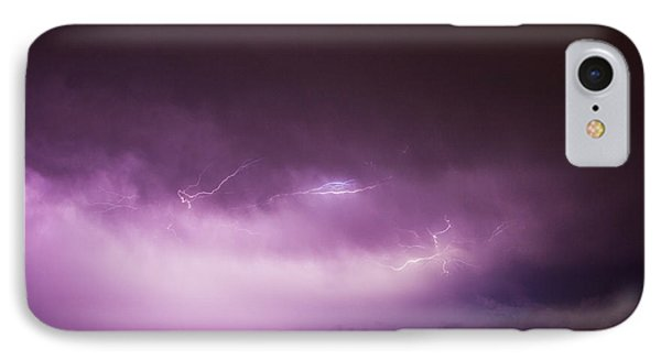Nebraskasc iPhone 8 Case - Nebraska Night Thunderstorms 013 by NebraskaSC