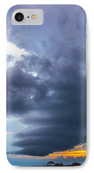 Nebraskasc iPhone 8 Case - Nebraska Supercell 025 by NebraskaSC