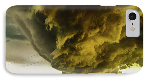 Nebraskasc iPhone 8 Case - Nebraska Supercell, Arcus, Shelf Cloud, Remastered 018 by NebraskaSC