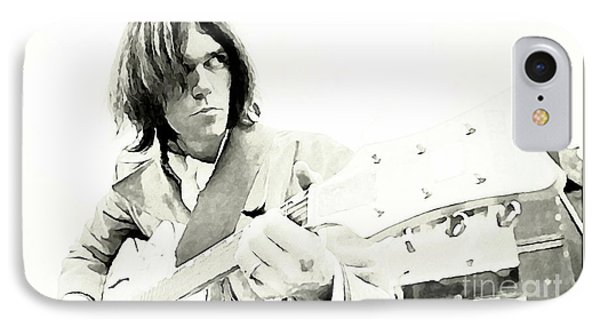Neil Young Watercolor IPhone Case