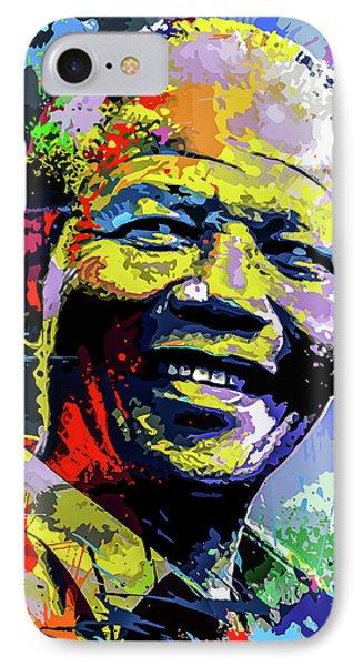 Tribute iPhone 8 Case - Nelson Mandela Madiba by Anthony Mwangi