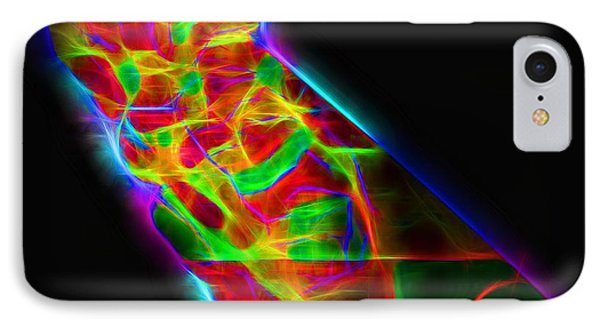 Neon California State Map IPhone Case