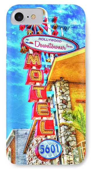 Neon Motel Sign IPhone Case