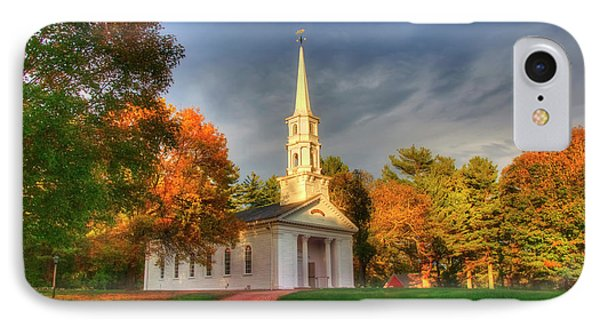 IPhone Case featuring the photograph New England Autumn - White Chapel by Joann Vitali