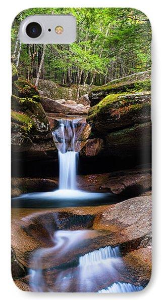 New Hampshire Sabbaday Falls And Fall Foliage Panorama IPhone Case