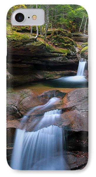 New Hampshire Sabbaday Falls Panorama IPhone Case