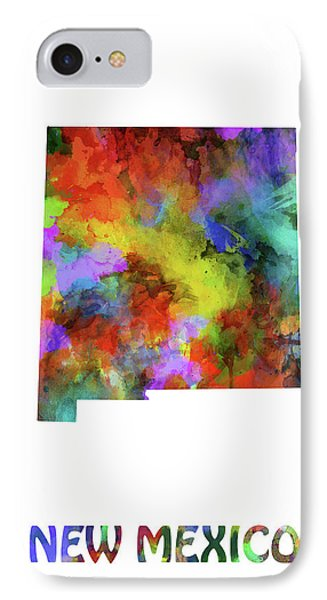 New Mexico Map Watercolor IPhone Case