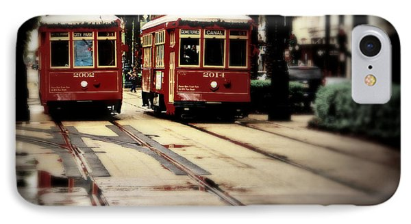New Orleans Red Streetcars IPhone Case