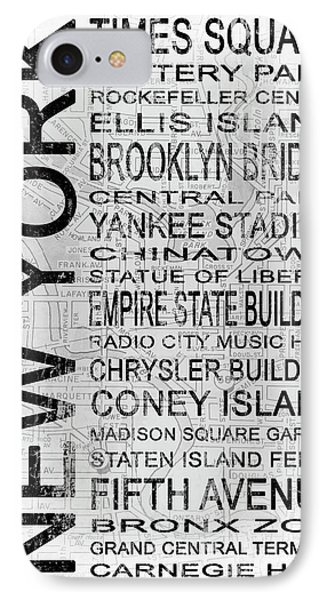 New York 1 White Subway IPhone Case
