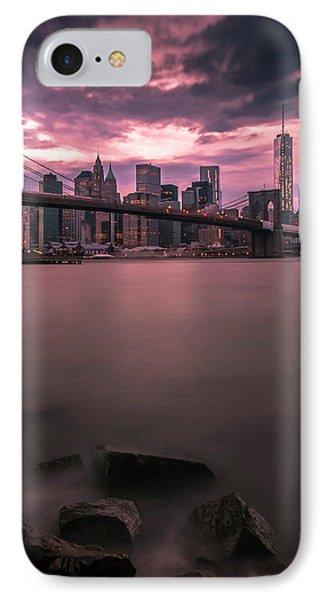 New York City Brooklyn Bridge Sunset IPhone Case