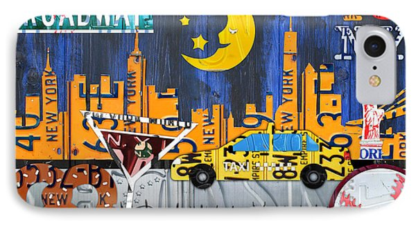 New York City Nyc The Big Apple License Plate Art Collage No 1 IPhone Case