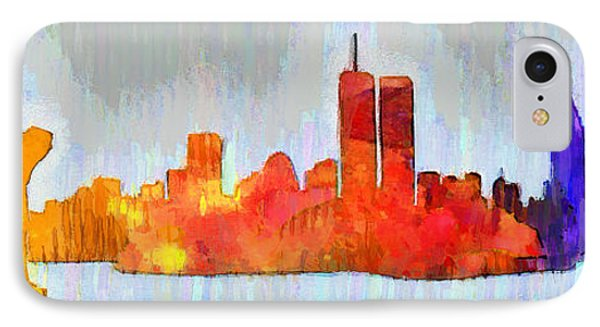 New York Skyline Old Shapes 3 - Da IPhone Case