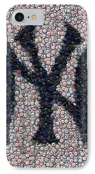 New York Yankees Bottle Cap Mosaic IPhone Case