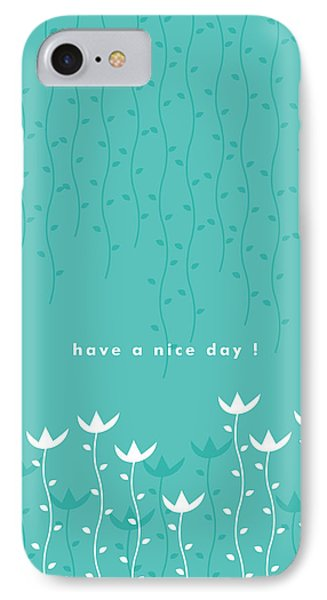 Flowers iPhone 8 Case - Nice Day by Kathleen Wong