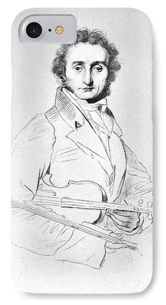 Violin iPhone 8 Case - Nicolo Paganini (1782-1840) by Granger