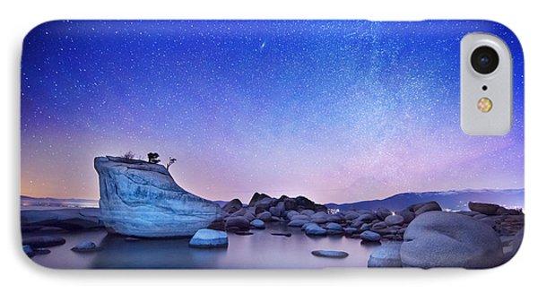 Night Shine , Bonsai Rock Lake Tahoe IPhone Case