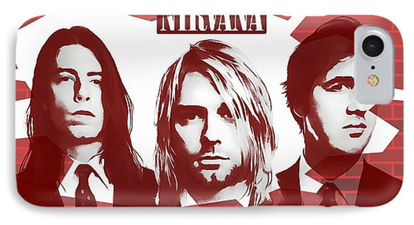 Tribute iPhone 8 Case - Nirvana Tribute by Dan Sproul