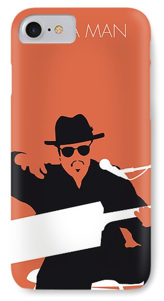 Rhythm And Blues iPhone 8 Case - No103 My Bo Diddley Minimal Music Poster by Chungkong Art