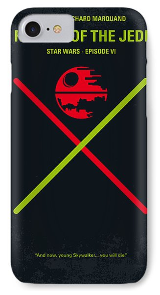 Knight iPhone 8 Case - No156 My Star Wars Episode Vi Return Of The Jedi Minimal Movie Poster by Chungkong Art