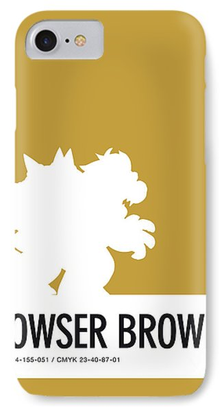 Daisy iPhone 8 Case - No38 My Minimal Color Code Poster Bowser by Chungkong Art
