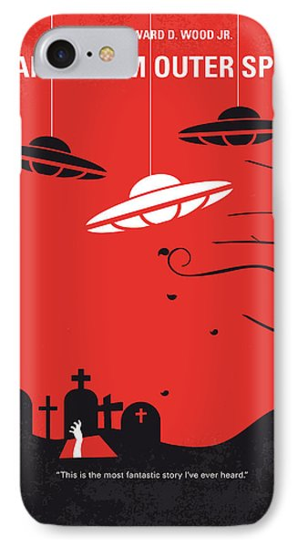 No518 My Plan 9 From Outer Space Minimal Movie Poster IPhone Case