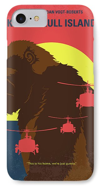 Helicopter iPhone 8 Case - No799 My Skull Island Minimal Movie Poster by Chungkong Art
