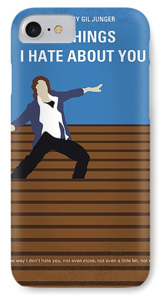 No850 My 10 Things I Hate About You Minimal Movie Poster IPhone Case