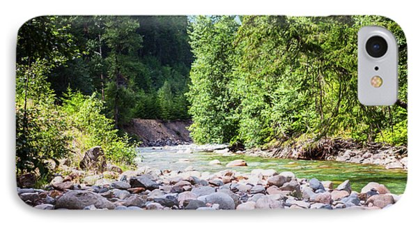 North Cascades Rivers And Rocks Landscape Photography By Omashte IPhone Case