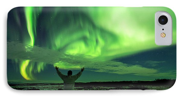 Northern Light In Western Iceland IPhone Case