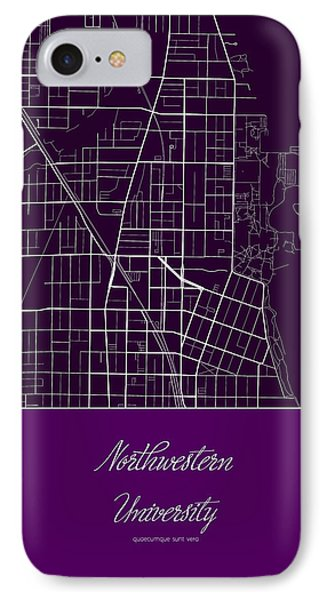 Northwestern University Evanston Campus Map.Campus Map Iphone 8 Cases Fine Art America