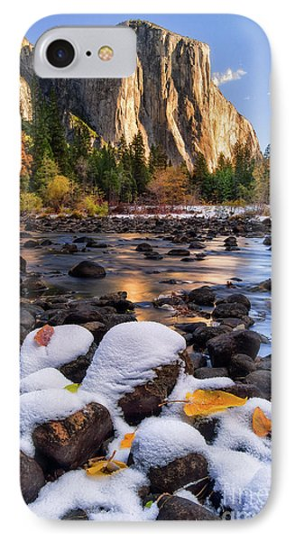 Mountain iPhone 8 Case - November Morning by Anthony Michael Bonafede