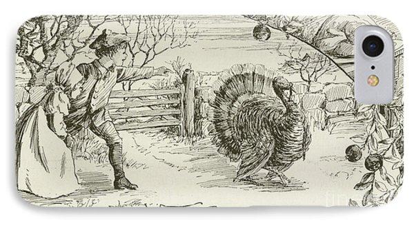 November   Vintage Thanksgiving Card IPhone Case