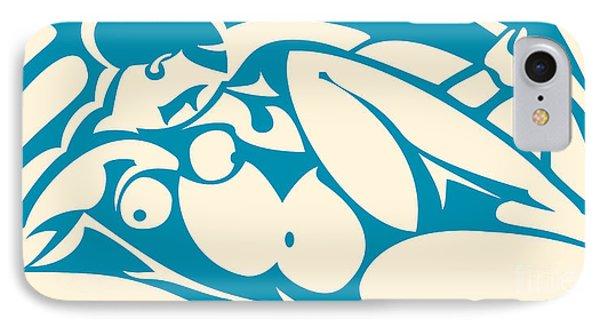 Nude Blue IPhone Case