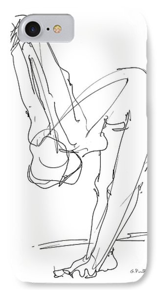 Nude Female Drawings 10 IPhone Case