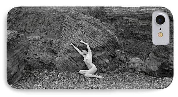Nude Woman Pulling Shape By Rocks IPhone Case