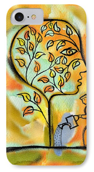 Garden iPhone 8 Case - Nurturing And Caring by Leon Zernitsky