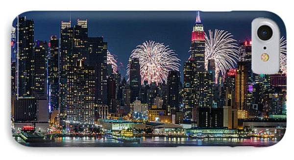 Nyc 4th Of July Fireworks Celebration IPhone Case
