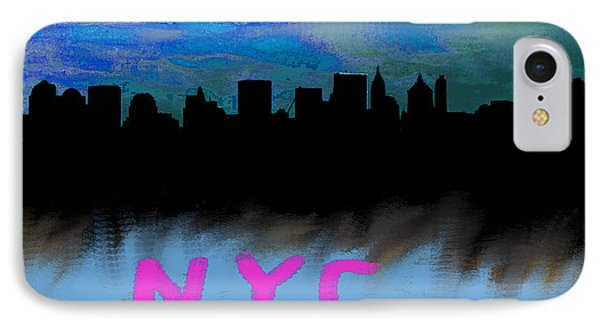 Nyc Skyline Blue  IPhone Case