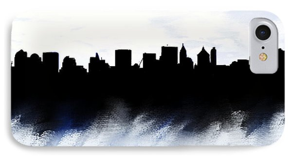 Nyc Skyline Monochrome 1 IPhone Case