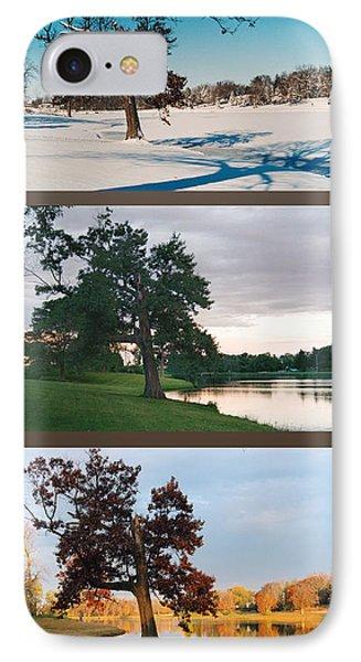 Oak Tree Through Seasons IPhone Case