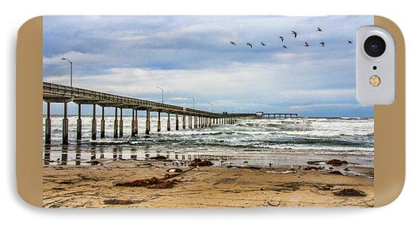 Ocean Beach Pier Fishing Airforce IPhone Case